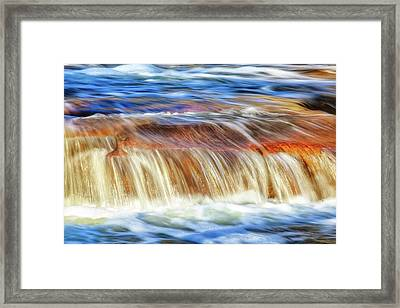 Framed Print featuring the photograph Ebb And Flow, Noble Falls by Dave Catley