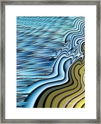 Ebb Tide Framed Print by John Edwards