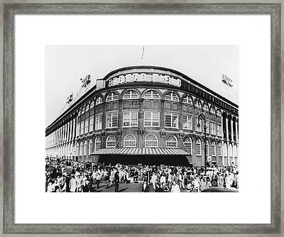 Ebbets Field, Brooklyn, Nyc Framed Print by Photo Researchers