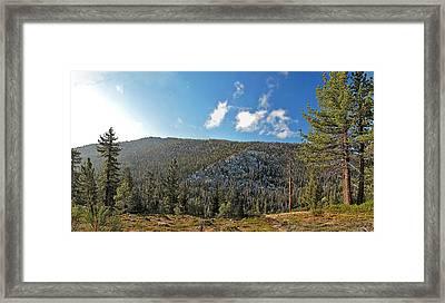 Ebbets Pass Sunrise Framed Print by Larry Darnell