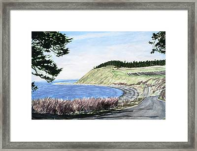 Ebey's Landing Framed Print by Perry Woodfin