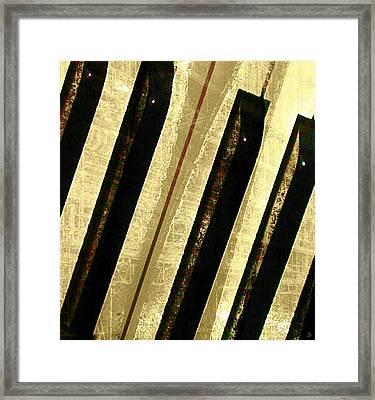 Framed Print featuring the digital art Ebony And Ivory by Ken Walker