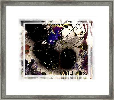 Framed Print featuring the mixed media Ebony Nights by Angela L Walker