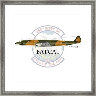 Ec-121r Batcat Framed Print