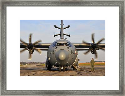 Framed Print featuring the photograph Ec-130j Commando Solo IIi by Dan Myers