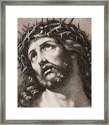 Ecce Homo Framed Print by Hugo Burkner