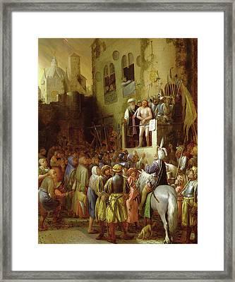 Ecce Homo Framed Print by Joos van Craesbeeck