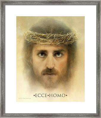Ecce Homo With Quote Framed Print by Ray Downing