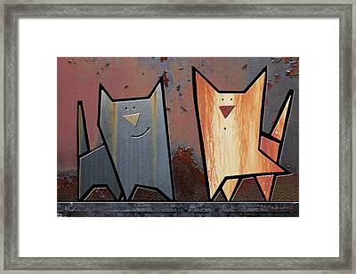 Eccentric Framed Print by Joan Ladendorf