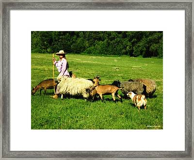 Framed Print featuring the painting Ecclesia-the Joyful Flock by Anastasia Savage Ealy