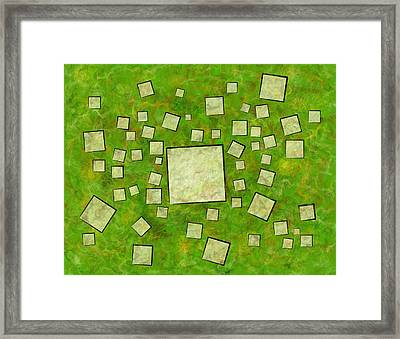 Eccletinos V1 - Mosaic Map Framed Print by Cersatti