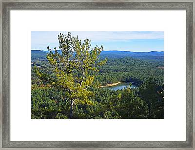 Echo Lake From Cathedral Ledge Bartlett New Hampshire Framed Print