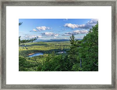 Echo Lake From Cathedral Ledge Framed Print by Brian MacLean