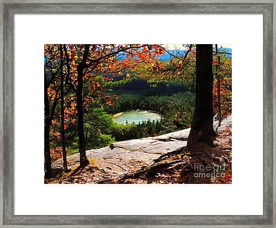 Echo Lake, New Hampshire Framed Print