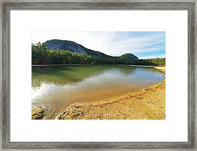 Echo Lake North Conway Nh Framed Print by Toby McGuire