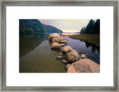 Echo Lake Sunset Framed Print by George Oze
