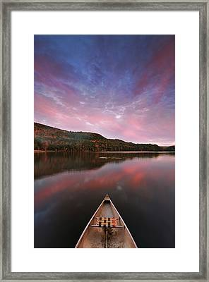 Echo Lake Sunset Framed Print