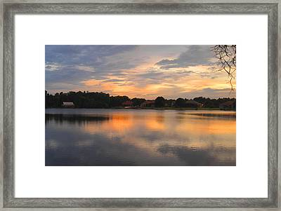 Echo Lake Sunset Framed Print by Penfield Hondros