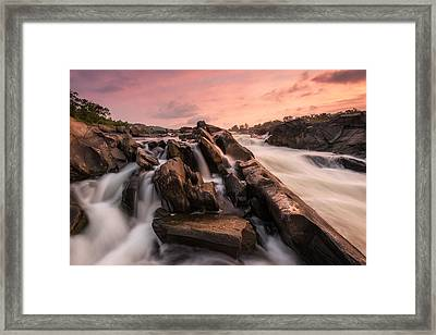 Framed Print featuring the photograph Echoes At Daybreak by Bernard Chen