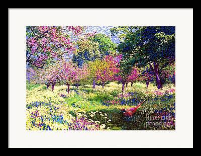 Fruit Tree Paintings Framed Prints
