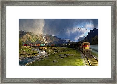 Echoes From The Caboose Framed Print by Dieter Carlton