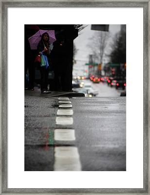 Framed Print featuring the photograph Echoes In The Rain Drops  by Empty Wall
