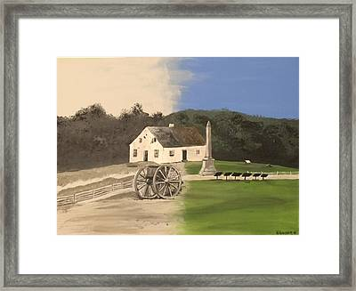 Echoes In Time The Dunker Church Framed Print by David Willingham