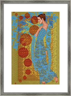 Echoes Of A Blue Moon Framed Print