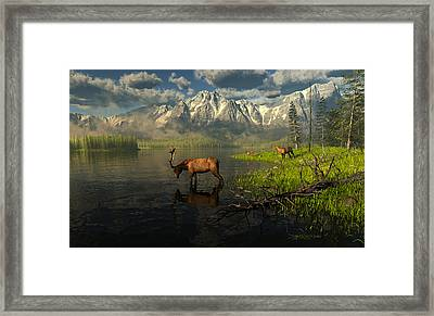 Echoes Of A Lost Frontier Framed Print by Dieter Carlton