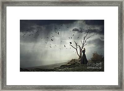Echoes Of Despair Framed Print by Evelina Kremsdorf