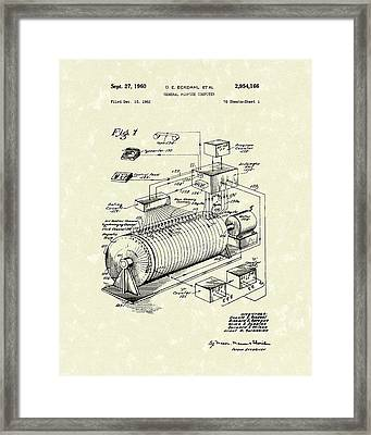 Eckdahl Computer 1960 Patent Art Framed Print by Prior Art Design