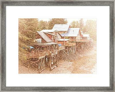 Eclectic Alaska Framed Print by Jim Cook