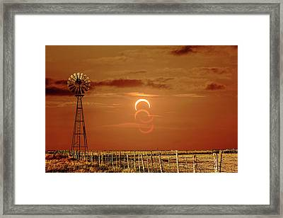 Eclipse And Lens Flares Framed Print