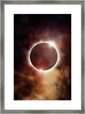 Eclipse Aura Framed Print