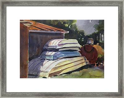 Eclipse Behind The Shed Framed Print