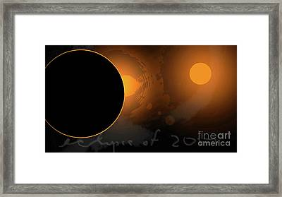 Eclipse Of 2017 W Framed Print