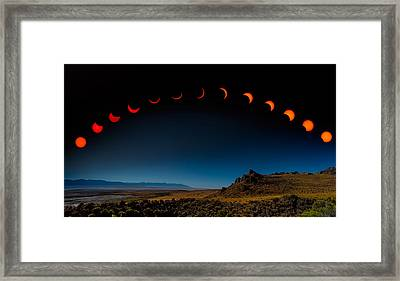 Eclipse Pano Framed Print