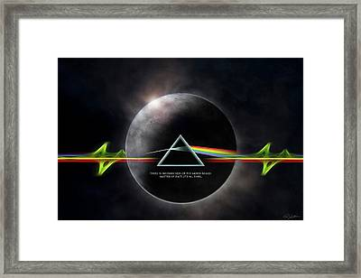 Eclipse Framed Print by Peter Chilelli