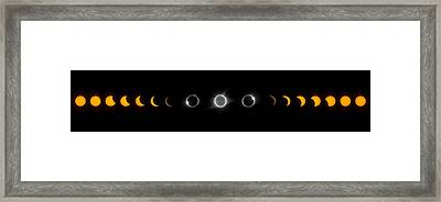 Eclipse Progression Framed Print