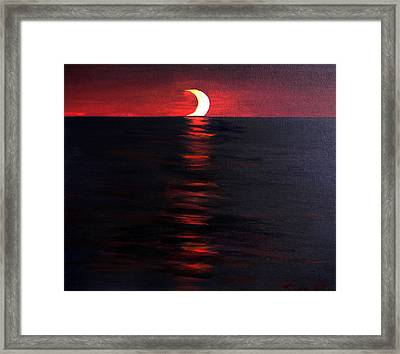 Eclipse Framed Print by The Nothing Machine Ink