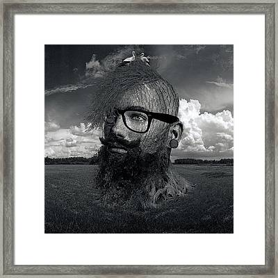 Eco Hipster Black And White Framed Print