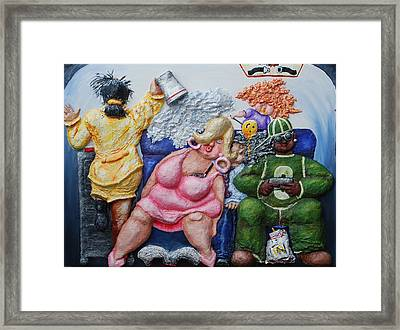 Economy Class Framed Print by Alison  Galvan