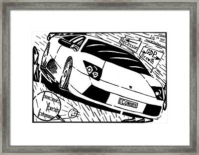 Economy In High Gear By Yonatan Frimer Framed Print by Yonatan Frimer Maze Artist