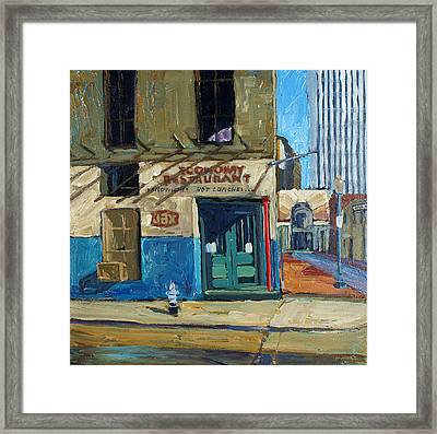 Economy Restaurant Framed Print by Dale Knaak