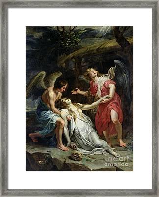 Ecstasy Of Mary Magdalene Framed Print by Peter Paul Rubens