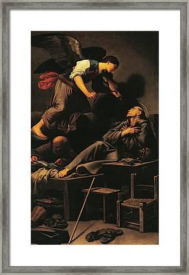Ecstasy Of St Francis Framed Print by Carlo Saraceni