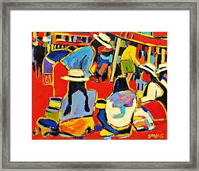 Ecuador Street Market Framed Print by Brian Simons