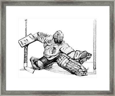 Ed Belfour Framed Print by Steve Benton