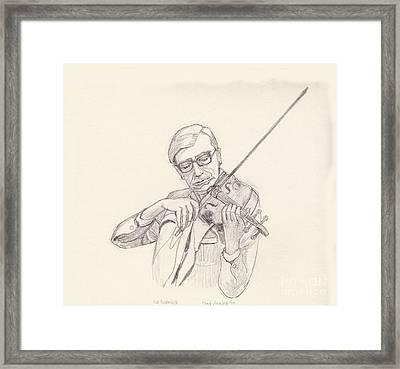 Ed Rudnick - Violin Framed Print by Fred Jinkins