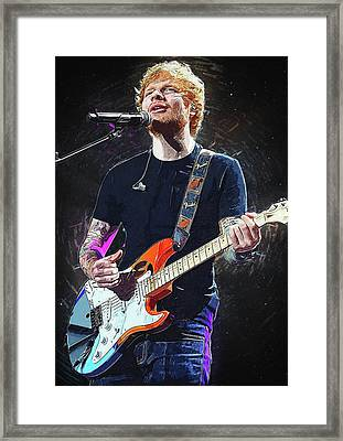 Ed Sheeran Framed Print by Semih Yurdabak